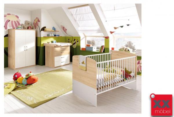 Babyzimmer | 4-tlg. | Achat | weiß - Sonoma Eiche | AC7