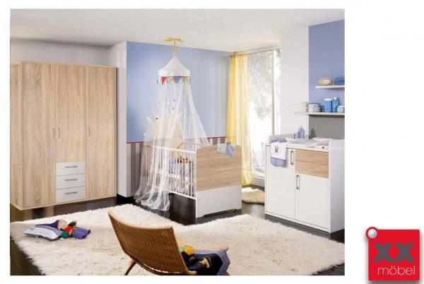 Babyzimmer | 4-tlg. | Achat | weiß - Sonoma Eiche | AC2