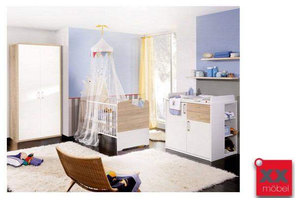 Babyzimmer   4-tlg.   Achat   weiß - Sonoma Eiche   AC1