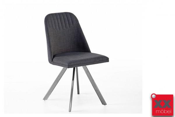 Esszimmerstühle   Elara   Feingewebe grau   EL3