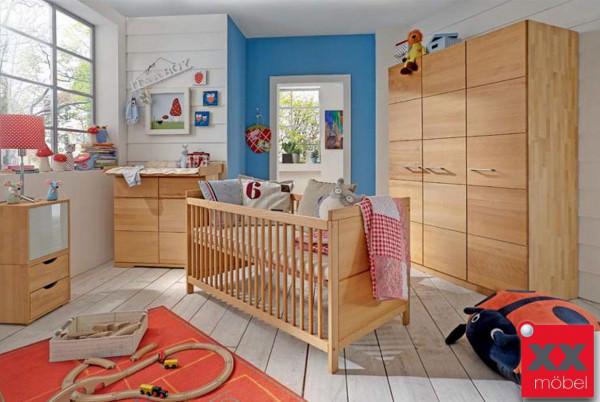 Babyzimmer | 4-tlg. | M&H Kids | Massivholz Buche | K01
