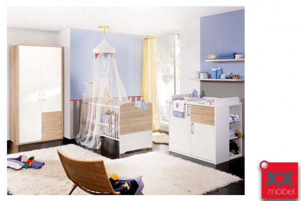Babyzimmer | 4-tlg. | Achat | weiß - Sonoma Eiche | AC3
