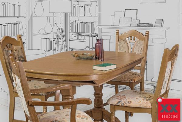 Tischgruppe | Seefeld | Eiche massiv | P43