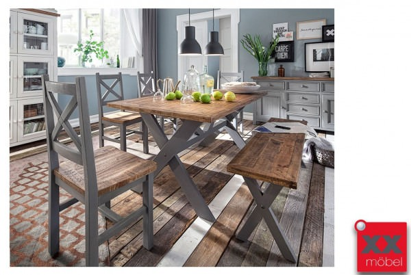 Tischgruppe | Bryon | Massivholz Kiefer | T6G
