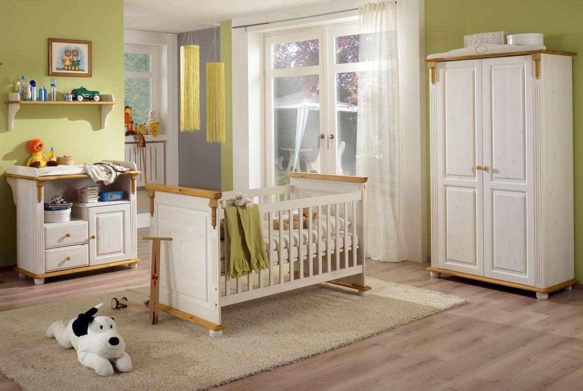 babyzimmer landhausstil weiß   romantik   kiefer massivholz