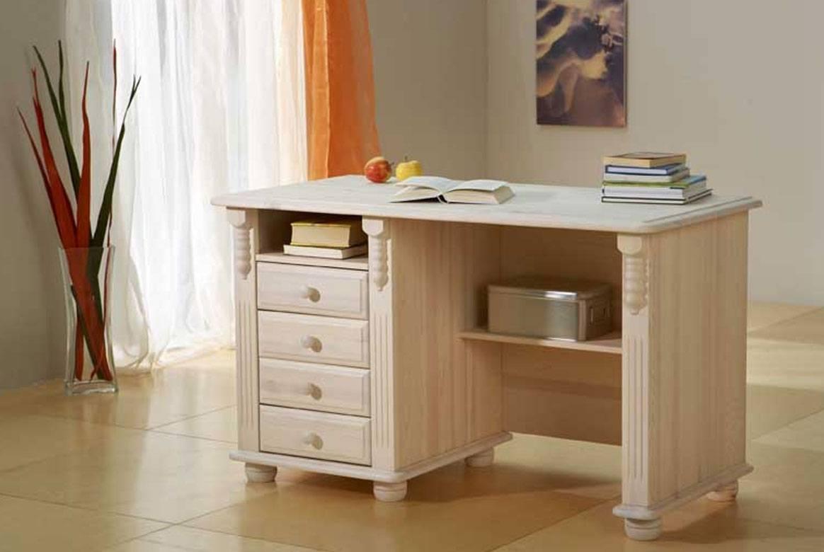 landhausstil schreibtisch wei romantik kiefer massivholz t11. Black Bedroom Furniture Sets. Home Design Ideas