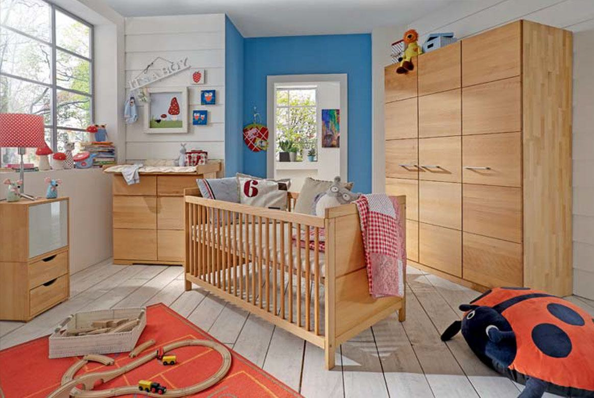 Kinderzimmer komplett Massivholz Buche geölt (4 tlg.) Kids.