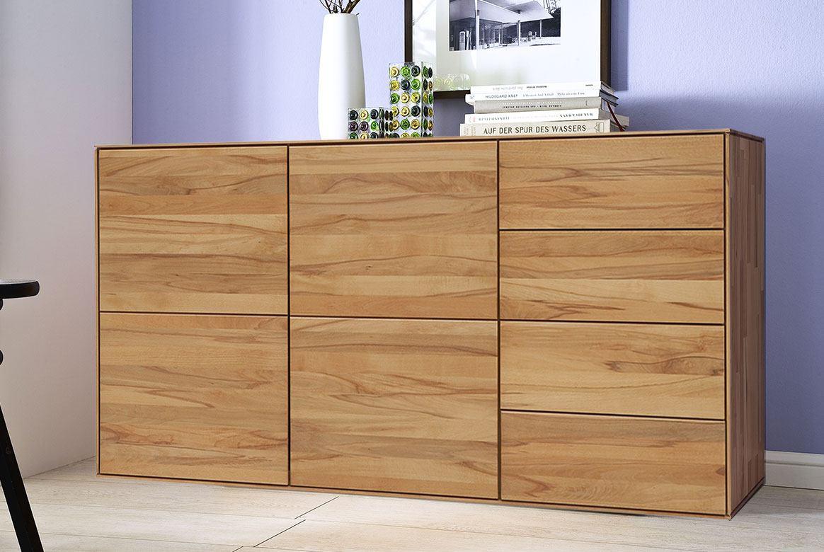 Abbildung Schlafzimmer Sideboardn Massivholz Buche geölt   Mercur T3