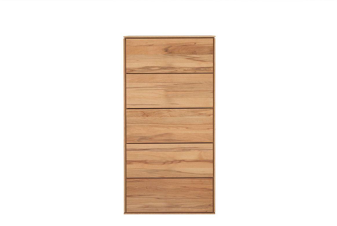 Abbildung Schlafzimmer Hochkommoden Massivholz Buche geölt | Mercur T1
