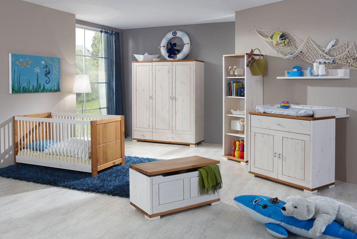 babyzimmer landhausstil weiss   guldborg   massivholz   b01