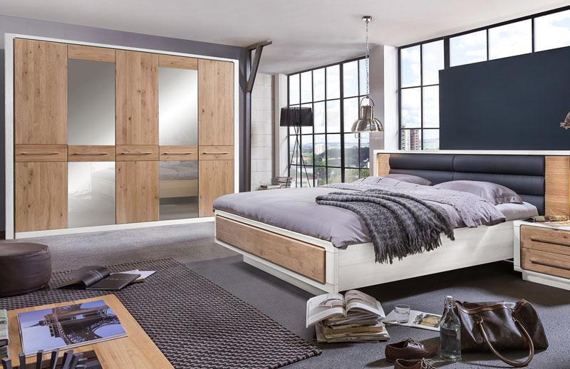 Abbildung Schlafzimmer Teilmassiv Asteiche Bianco | Elba