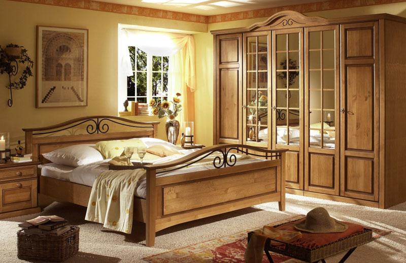 Abbildung Landhausstil Schlafzimmer Teilmassiv Kiefer Old Style | San Diego