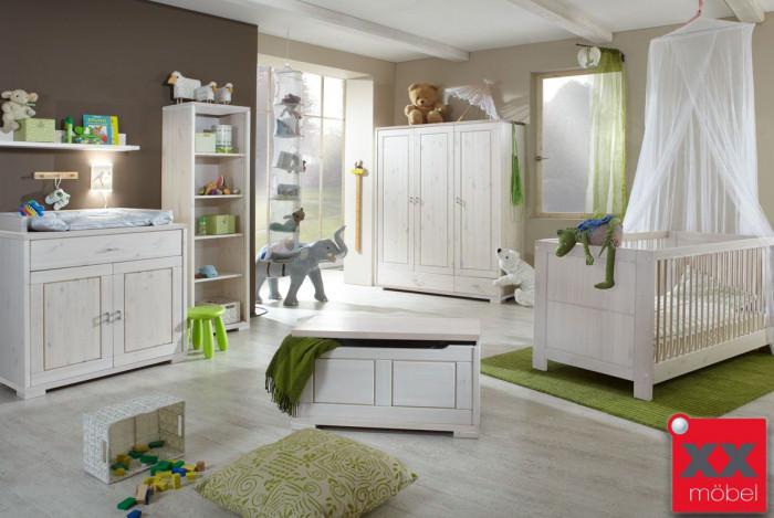 Babyzimmer | 5-tlg. | Guldborg - Vita | Kiefer Massivholz | B02