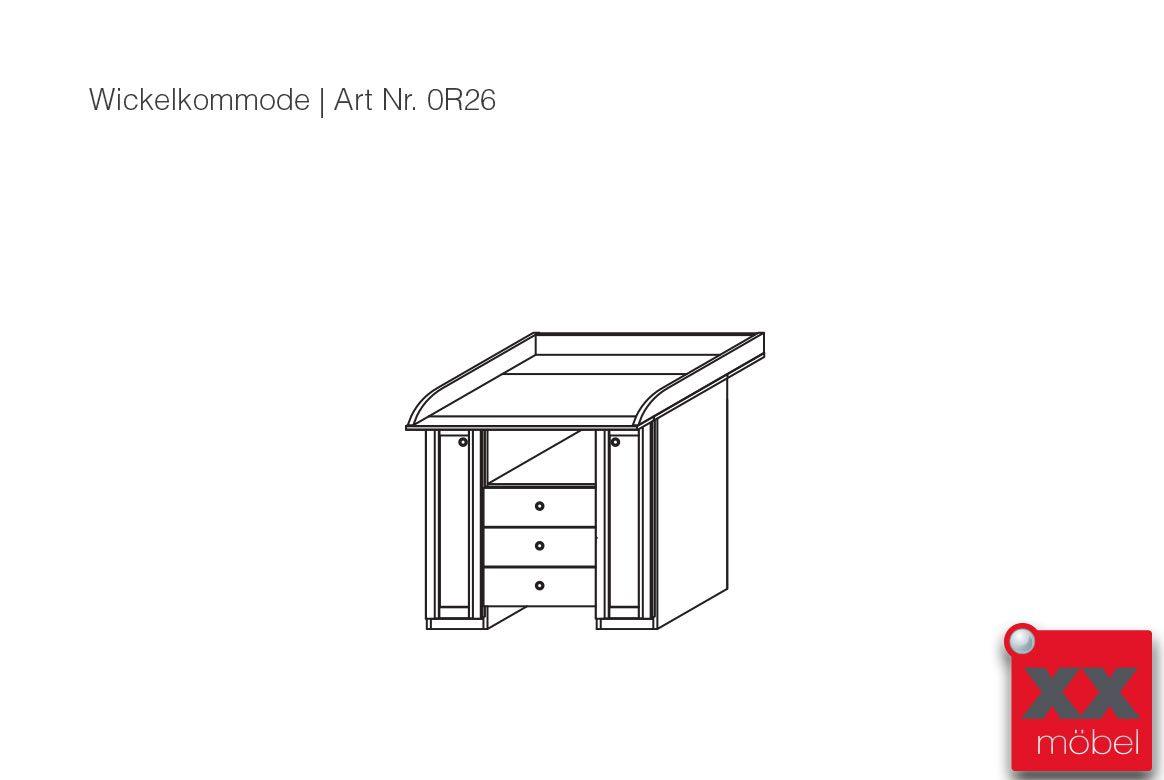 wickelkommode wei g nstig leni rauch m bel t29. Black Bedroom Furniture Sets. Home Design Ideas