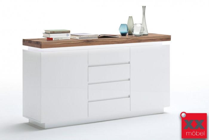 Sideboard | Romina | weiß - Asteiche | T93