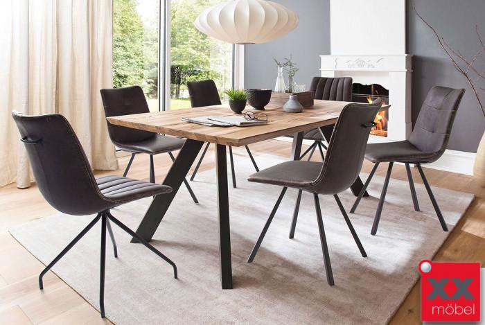 Tischgruppe | Milton | Eiche massiv | MI18V