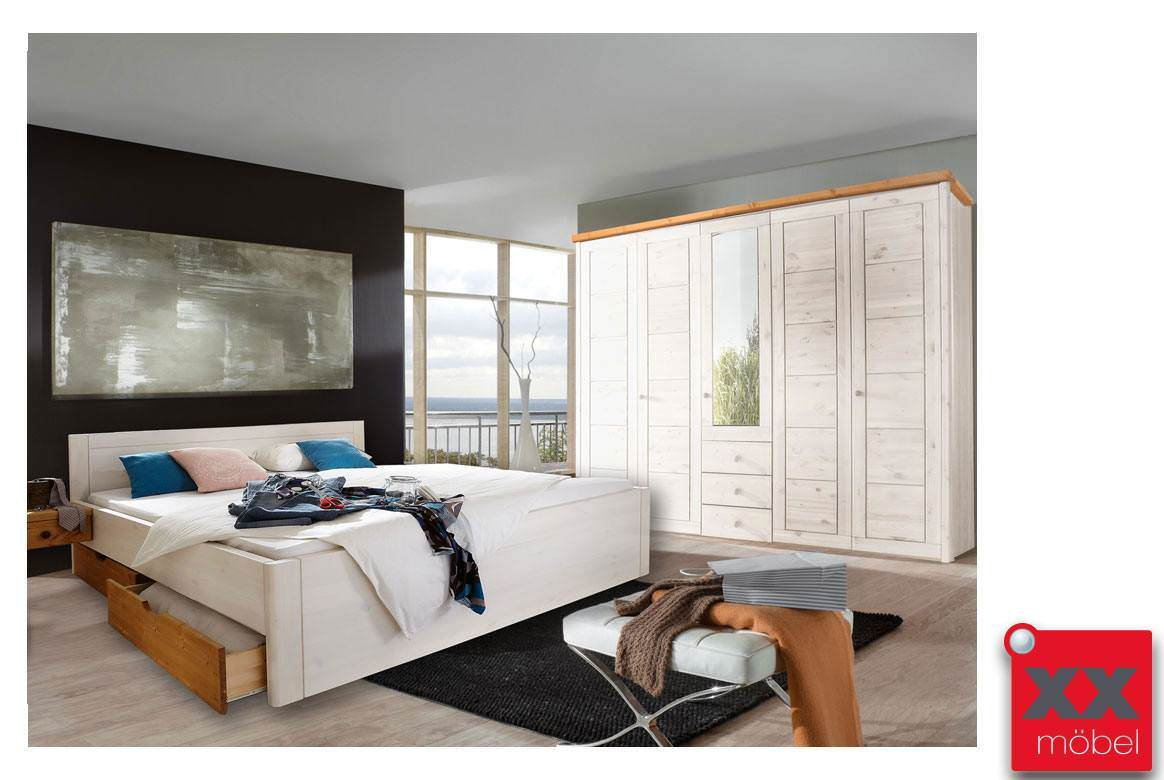 Schlafzimmer | Rauna | Kiefer massiv | SK294