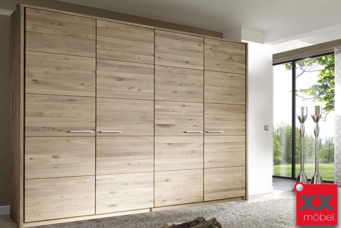 Kleiderschrank Massivholz | Front 6 | Wildeiche massiv geölt | EB4