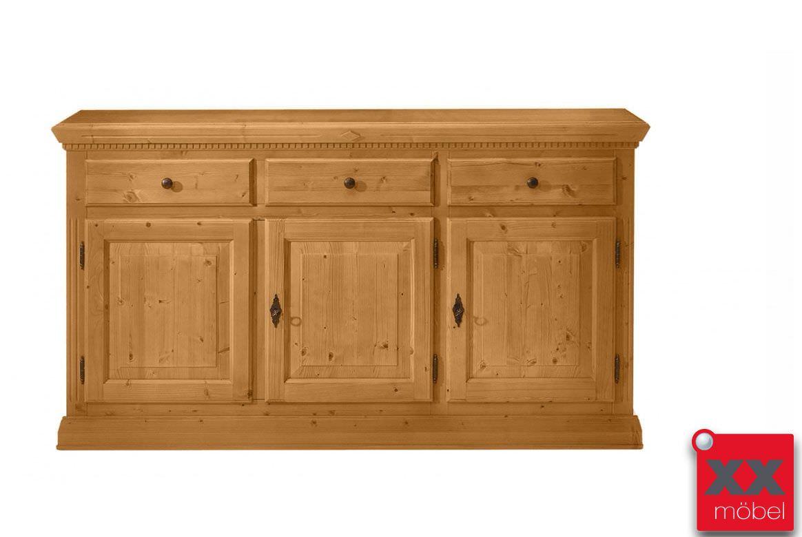 sideboard landhausstil isabella massivholz fichte t23. Black Bedroom Furniture Sets. Home Design Ideas