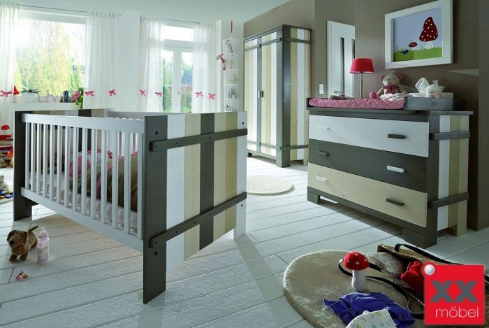 Babyzimmer Massivholz Merlin Kiefer Massiv Multicolour M01