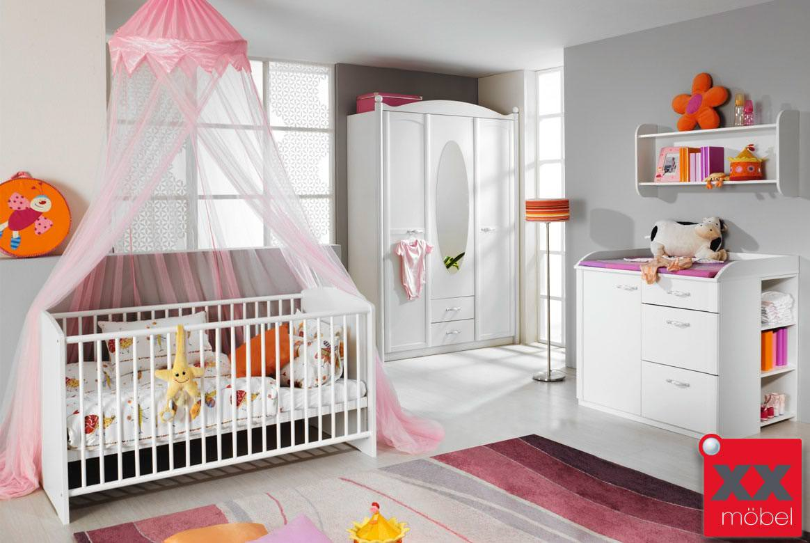 baby kinderzimmer komplett weiss lilly romantik stil w05. Black Bedroom Furniture Sets. Home Design Ideas