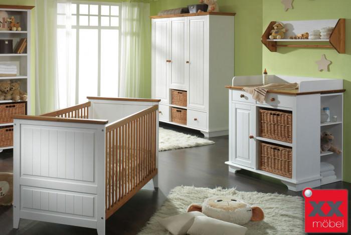 Babyzimmer Landhausstil Weiss Julia Kiefer Massivholz B01