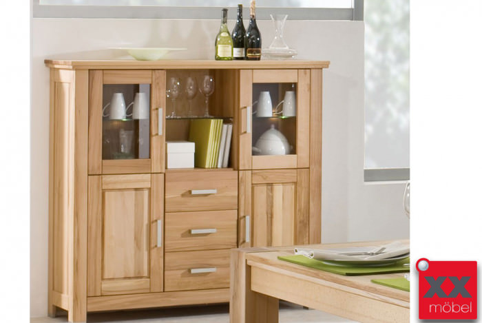 Highboard | Anna | Kernbuche Massivholz | T67