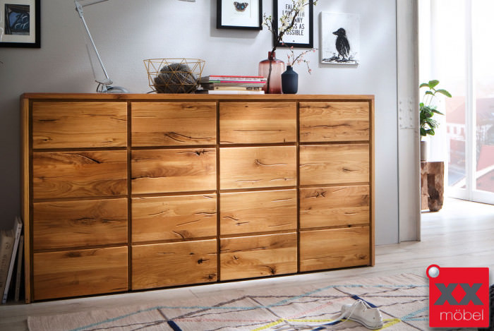 Sideboard | Rödig | Wildeiche Massivholz | T09