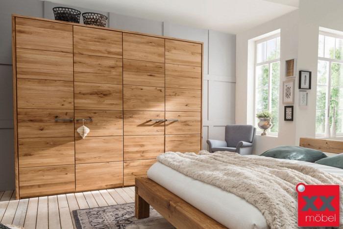 Kleiderschrank 4 türig | TPT | Wildeiche Massivholz | T04