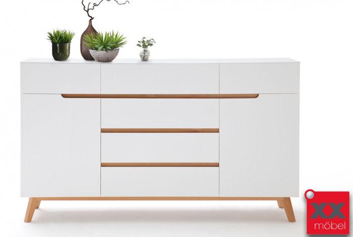 Sideboard | Cervo | weiß - Asteiche | T03