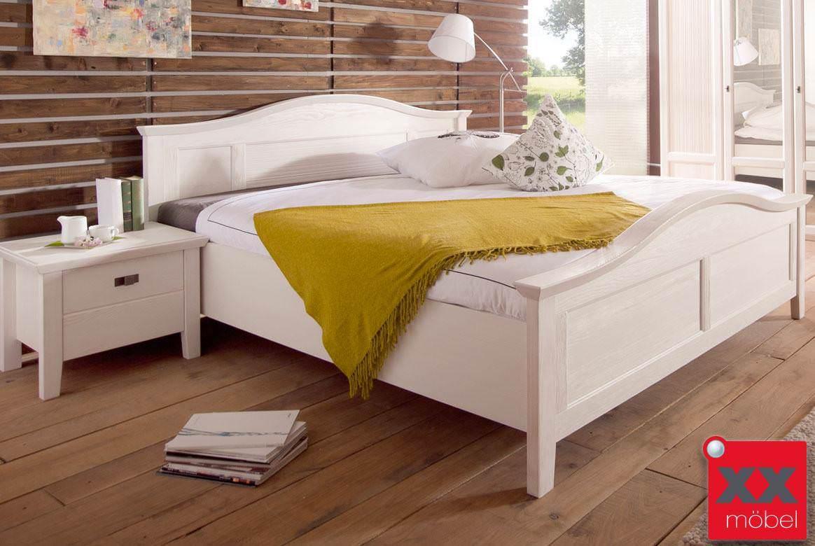bettgestell doppelbett landhausstil set casa kiefer. Black Bedroom Furniture Sets. Home Design Ideas