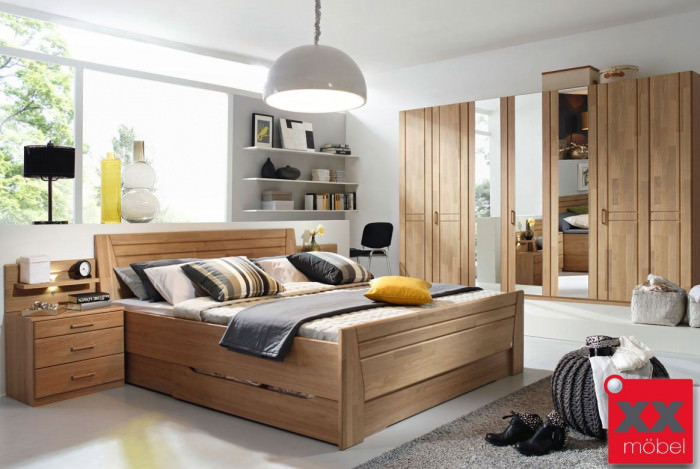 schlafzimmer komplett rauch sitara wildeiche teilmassiv w59. Black Bedroom Furniture Sets. Home Design Ideas
