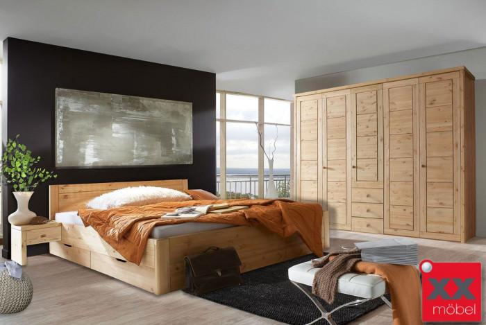 Massivholz Schlafzimmer | Rauna - Vita | Echtholz Schlafzimmer | S91-2
