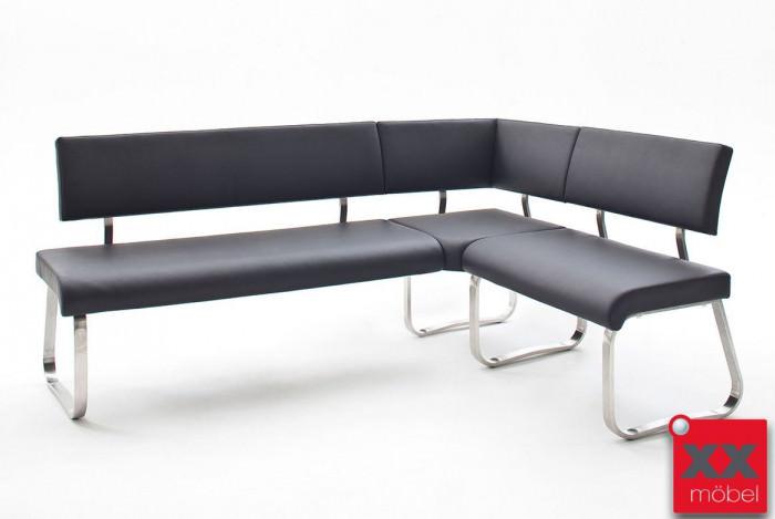 eckbank modern arco echtleder schwarz ek1. Black Bedroom Furniture Sets. Home Design Ideas