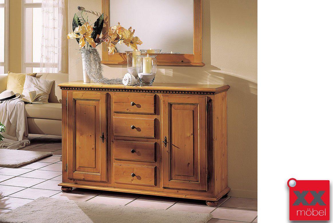 sideboard landhausstil valentina fichte massivholz t23. Black Bedroom Furniture Sets. Home Design Ideas