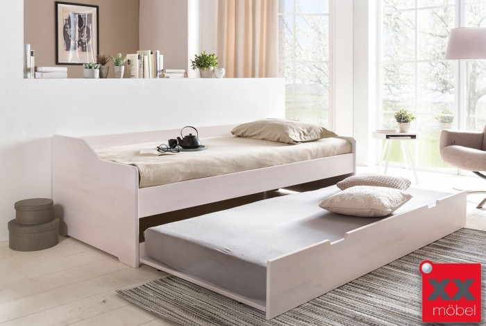 Gästebett - Kinderbett | Livo | Kernbuche weiß | T14