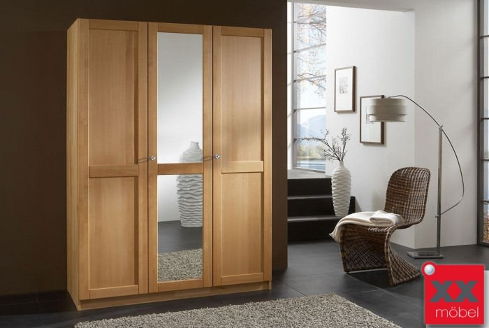 kleiderschrank massivholz front 2 buche o wildeiche t35. Black Bedroom Furniture Sets. Home Design Ideas