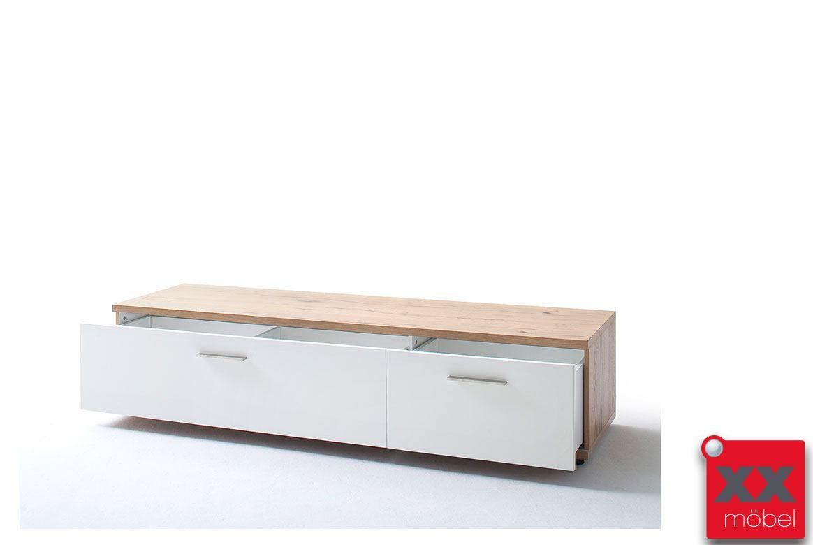 Lowboard modern wei nizza absetzung crackeiche t31 - Lowboard modern ...
