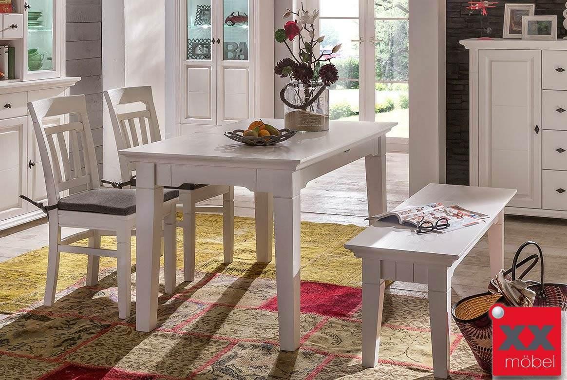 Tischgruppe | Lena | Astfichte Massivholz weiß | TG1