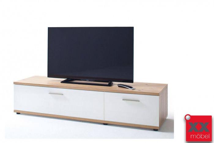 Tv lowboard weiß modern  Lowboard modern weiß | Nizza | Absetzung Crackeiche | T31
