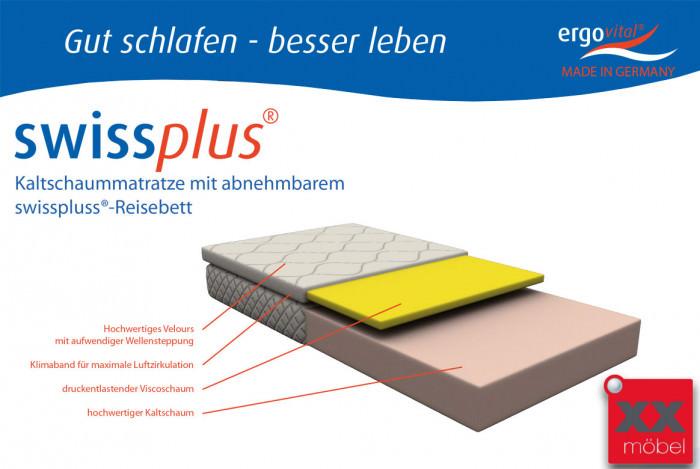 Matratze mit Reisebett | Swisspluss | Ergovital® | R82