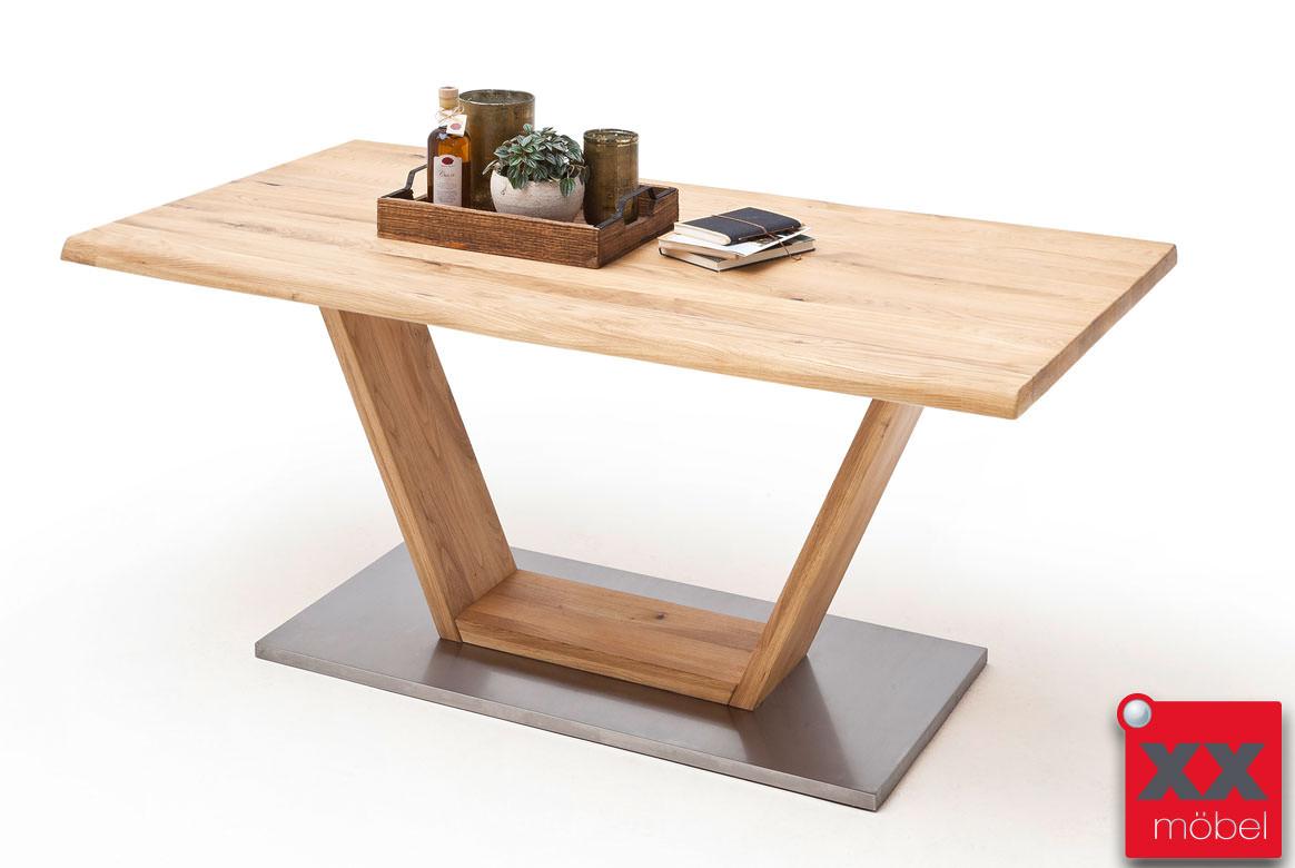 esstisch massivholz greta holz eiche baumkante v fu be. Black Bedroom Furniture Sets. Home Design Ideas