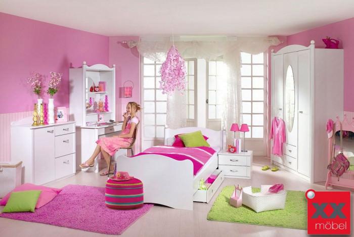 Kinderzimmer | 7-tlg. | Lilly | Schrank 3-trg weiss | K01