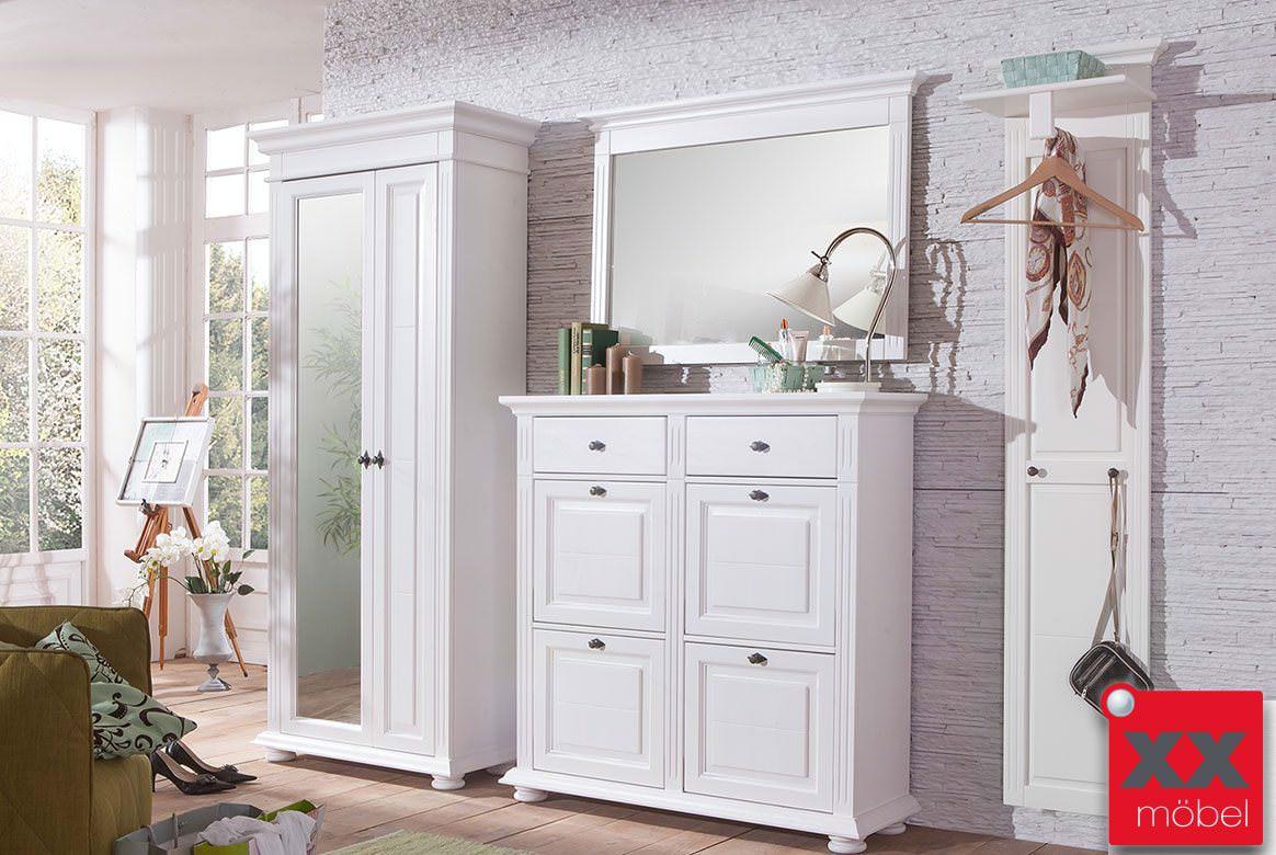 garderobenkombination landhausstil lena massivholz. Black Bedroom Furniture Sets. Home Design Ideas