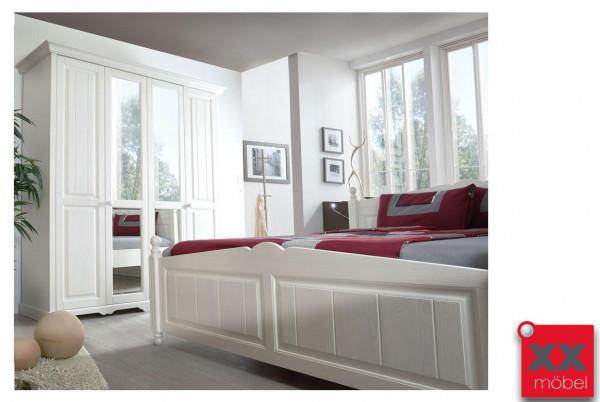 schlafzimmer landhausstil wei pisa massivholz romantik tp24. Black Bedroom Furniture Sets. Home Design Ideas