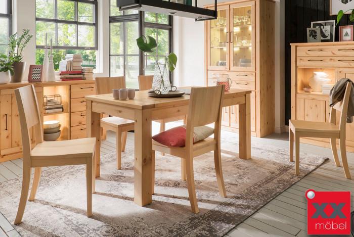 Tischgruppe | Gotland | Tisch ausziehbar Kiefer Massivholz | G01