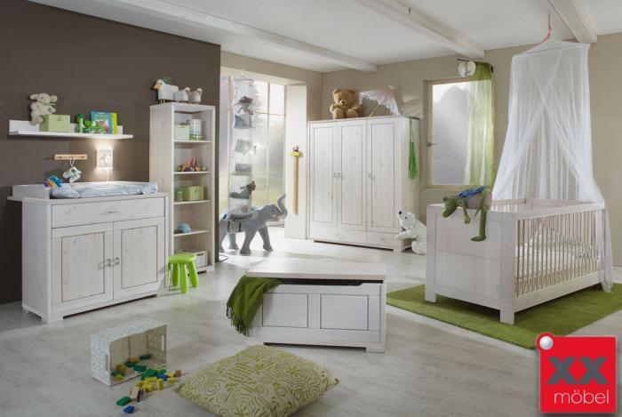 Babyzimmer | 6-tlg. | Vita | Kiefer Massivholz | B07