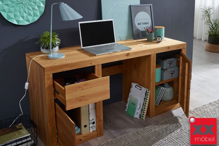 Schreibtisch | Savi | Kiefer Massivholz | T70