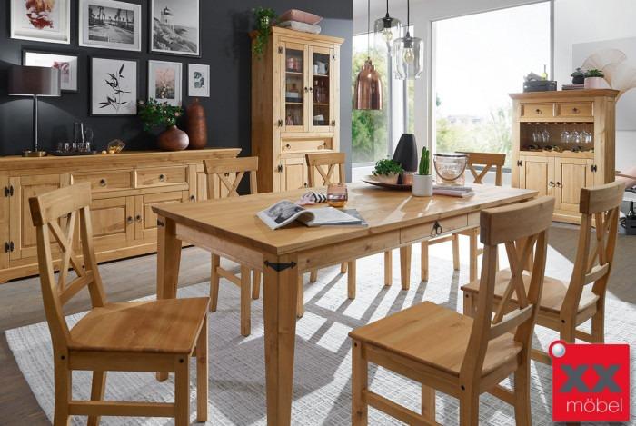 Tischgruppe | Prato | Kiefer Massivholz | G01