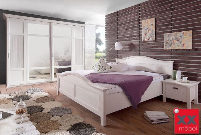 Schlafzimmer Landhausstil komplett | Casa | Kiefer teilmassiv | W01